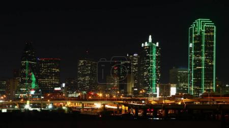 Photo for The skyline of Dallas at night - Royalty Free Image