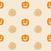 Halloween Seamless Pattern with Pumpkin
