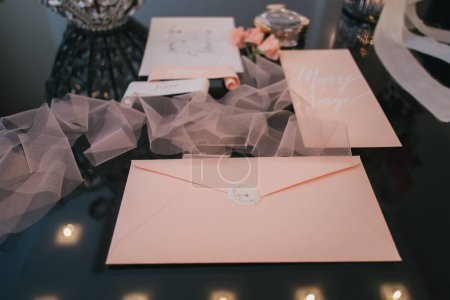 Wedding mock up with invitation cards