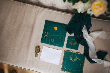 Wedding mock-up with invitation cards