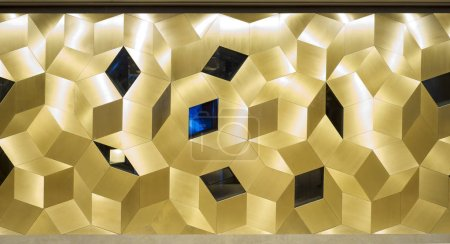 golden interior mosaic