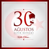 30 agustos zafer bayrami vector illustration (30 August Victory Day Turkey celebration card)
