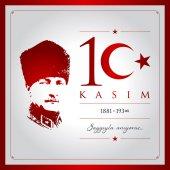 10 kasim vector illustration (10 November Mustafa Kemal Ataturk Death Day anniversary)