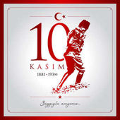 10 kasim vector illustration (10 November Mustafa Kemal Ataturk Death Day anniversary)