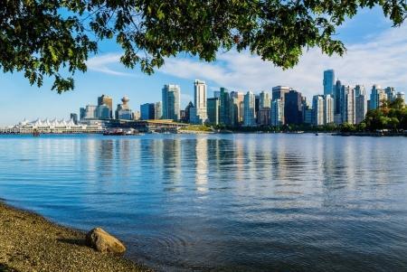 Photo pour Vancouver skyline, Colombie-Britannique, Canada - image libre de droit