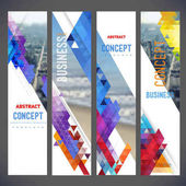 Vector set of banners layout with colorful cityscape space for logo and textDesign for Brochure web sites page leaflet cover presentation abstract design for layout