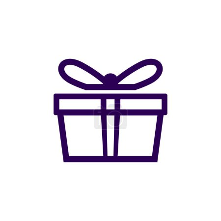 Illustration for Gift Logo Symbol Template Design Vector, Emblem, Gift Shop Design Concept, Creative Symbol, Icon - Royalty Free Image