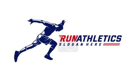 Running Man silhouette Logo Designs Vector, Marath...