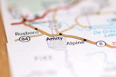 Photo pour Amity. Arkansas. États-Unis sur une carte géographique - image libre de droit