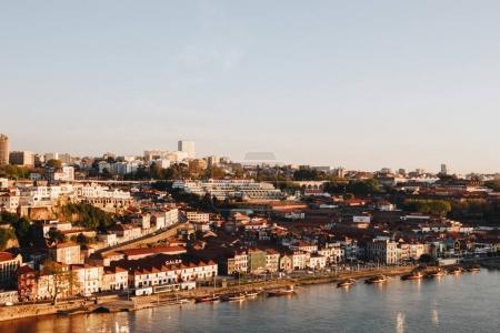 View towards wine cellars of Porto