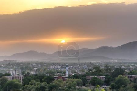 Beautiful sunset over Islamabad