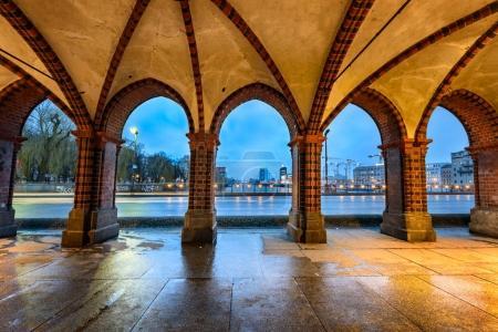 Berlin skyline through arches