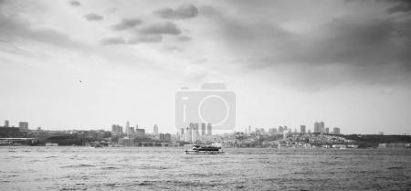 Ferry passing across Bosphorus
