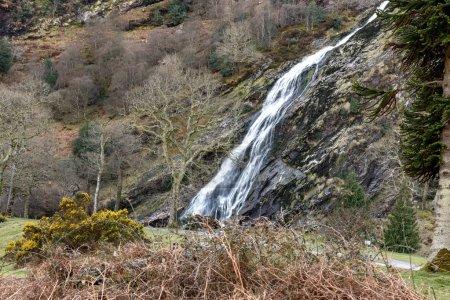 beautiful waterfall of Wicklow