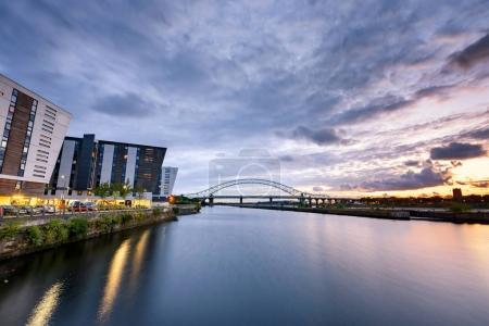 bridge over Mersey river