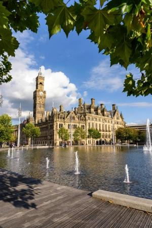 Bradford Hall with fountains