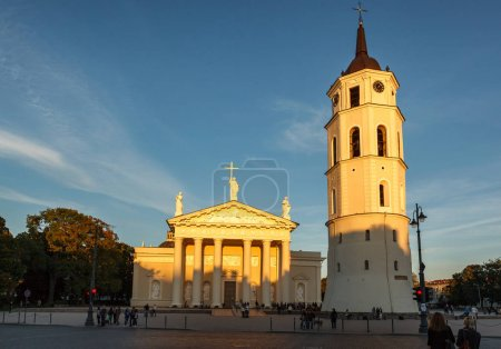 Bell tower and Basilica on square