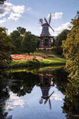 park Wallanlagen with Am Wall Windmill in Bremen, Germany