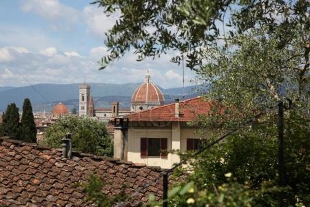antique architecture of Cattedrale di Santa Maria del Fiore in Florence, Tuscany, Italy
