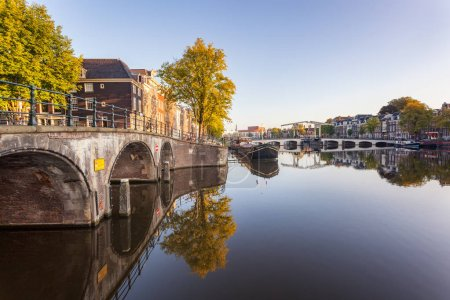 bridge and canal in Amsterdam
