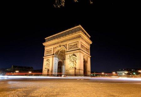 Arc de Triomphe is famous landmark of Paris, France.