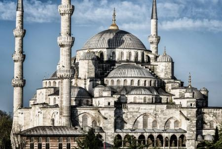 Sehzade Mosque rial mosque located in district of Fatih, Istanbul, Turkey.