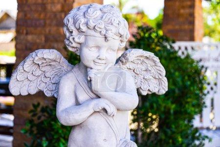 The cute statue in the garden