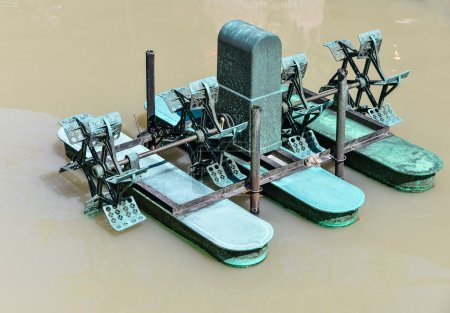 Water turbine in the pond