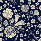 Flowers seamless patern vector illustration
