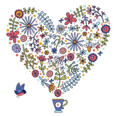 Illustration pour Floral fond sans couture, illustration vectorielle - image libre de droit