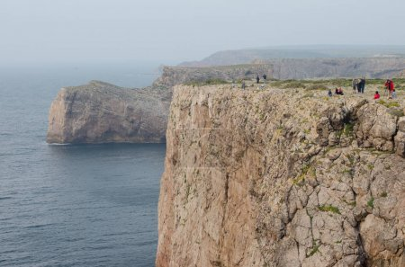 View from a cliff near Cape Saint-Vincent in Portugal