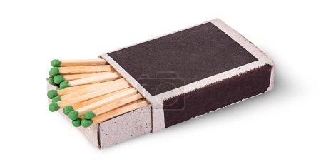 Open box of matches horizontally