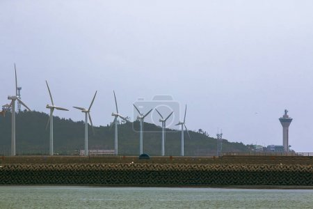 several wind power plants
