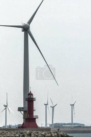 wind turbines on the Cape near the lighthouse