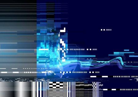 Ilustración de Un fondo de textura interferencia ruido distorsión. Ilustración de vector - Imagen libre de derechos