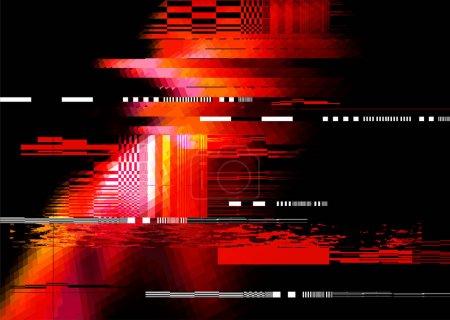 Ilustración de Un fondo de textura de distorsión del ruido de redglitch. Ilustración de vector - Imagen libre de derechos