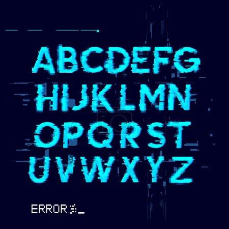 Ilustración de Error desplazamiento tipo Letras con líneas de falla. Ilustración de vector - Imagen libre de derechos
