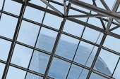 Fragment of  glass ceiling as background
