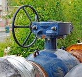 Pipeline fragment. Fittings. Butterfly valve.