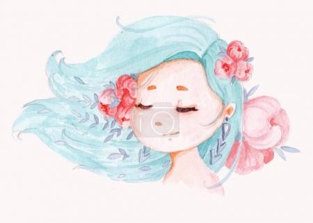 Young girl illustration