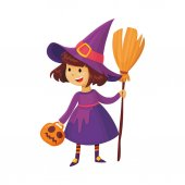 Halloween Witch illustration vector