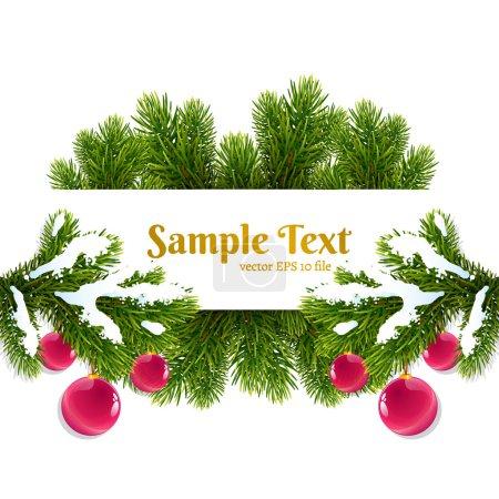 Card with christmas fir tree