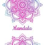 Multicolored Mandala ornament isolated on white ba...