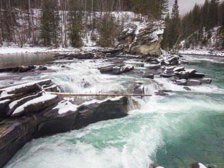 Photo pour Chutes de garde en hiver, Colombie-Britannique, Canada . - image libre de droit