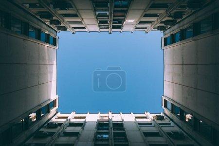 Sky between buildings
