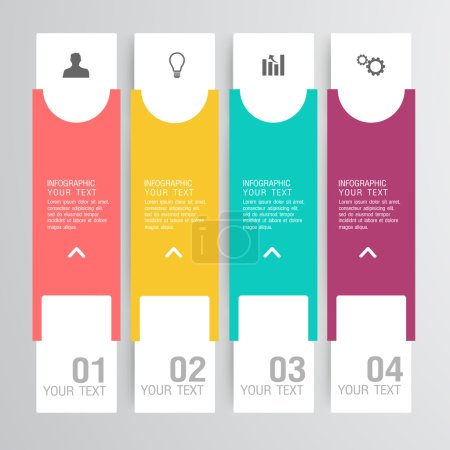 Illustration for Business Infographic, Label desing - Royalty Free Image
