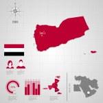 Flag Asia  World Map. Travel vector Illustration....
