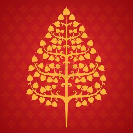 Illustration for Tree bodhi leaf vector illustration - Royalty Free Image