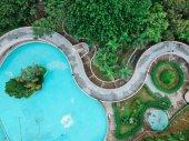 Aerial view of a garden