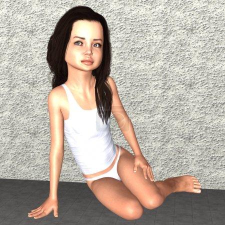 маленькая Анджелина Джоли вуду тень